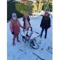 Rosie's wheel-y great snowman