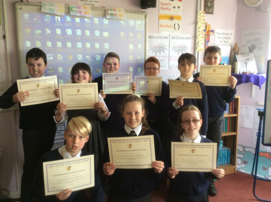 100% Attendance during the Autumn and Spring Term