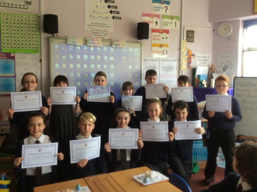100% Attendance during the Spring Term