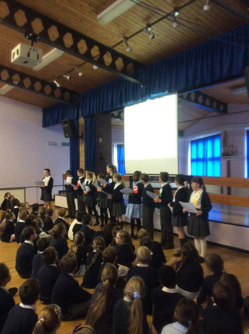 Year Six presentation about the election