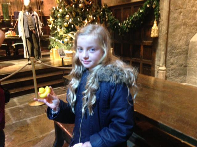 Ellie and Baby Duck at Harry Potter Studios