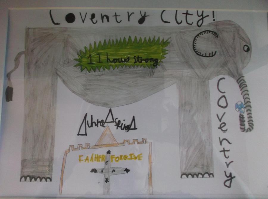 Winning design for Coventry North West Flag