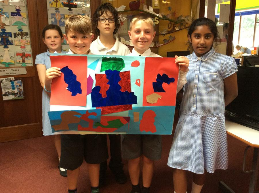 Our group art work inspired by Matisse