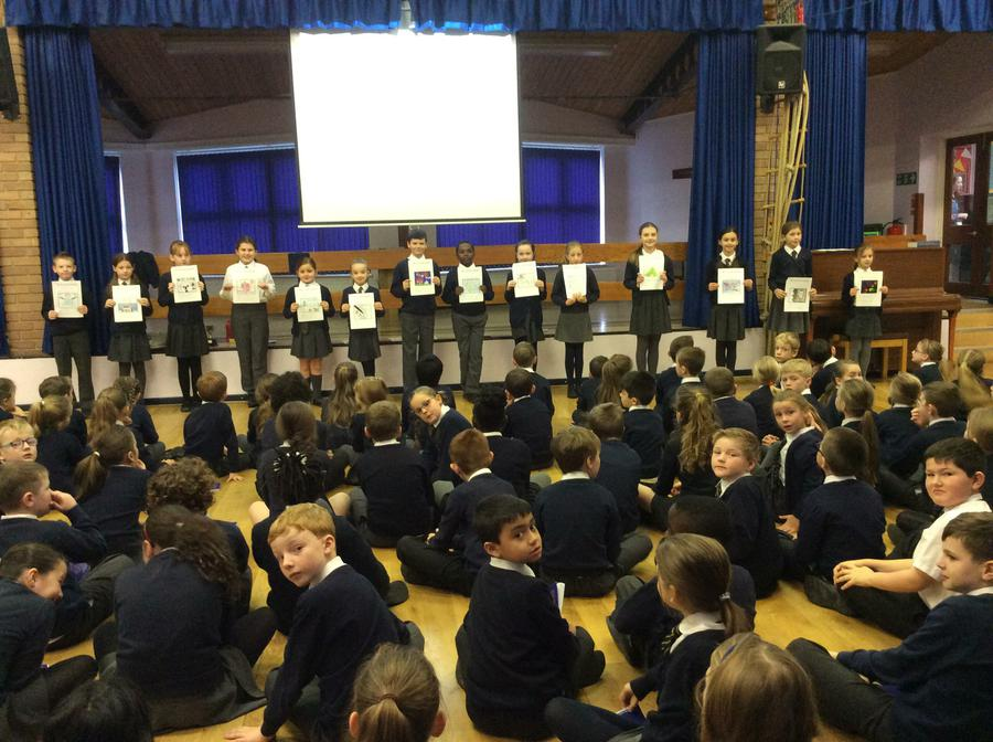 Shortlisted entries being shown in assembly