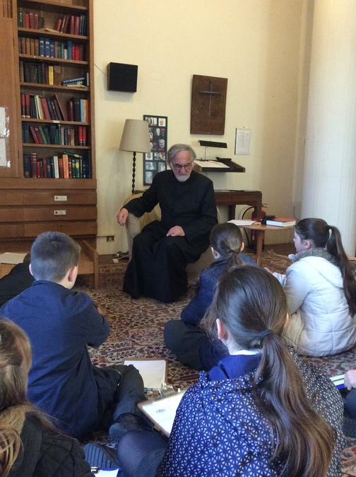 Provost Howard spoke to the children.