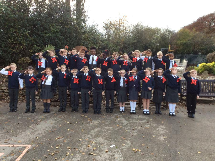 Class 9 salute those who have lost their lives.