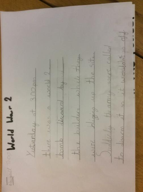 Abigail's report on a WWII bomb found in Coventry