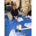 Making parachutes.