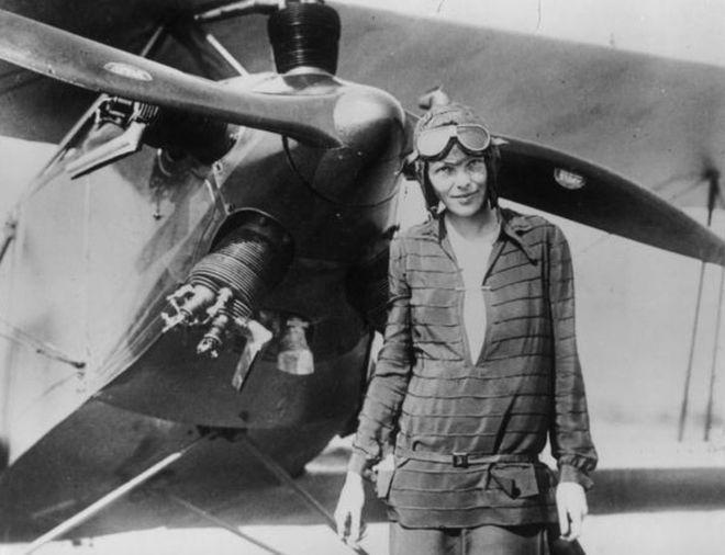 Amelia Earheart American aviation pioneer.