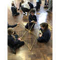 Tetrahedron Building with Doug Corp. Teamwork