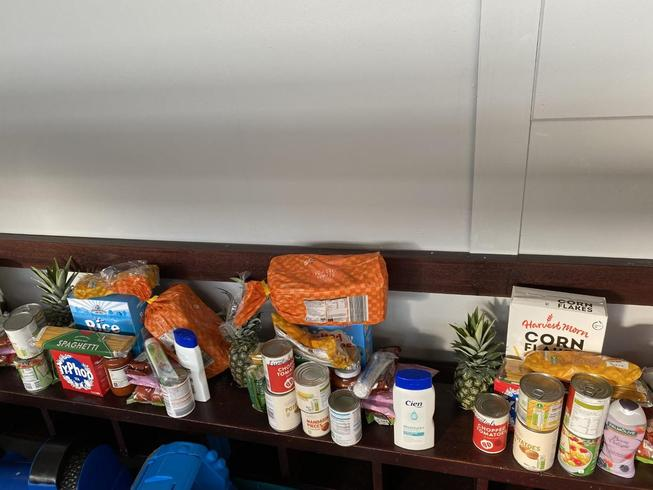 A selection of items that were included in May 2021 Pantri Bach food bags.