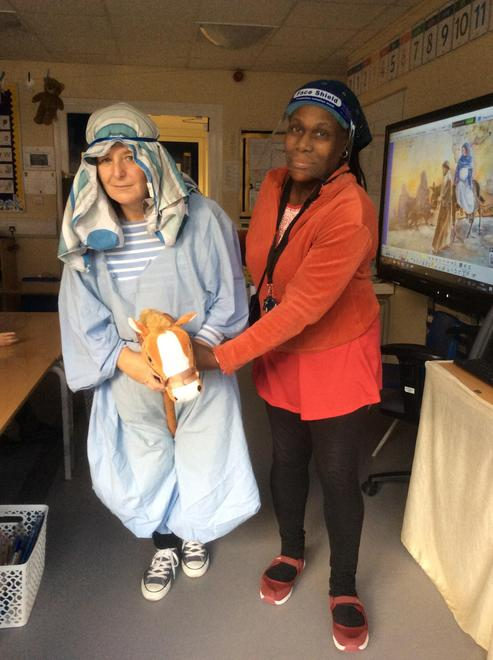 Mary and Joseph travelled to Bethlehem.