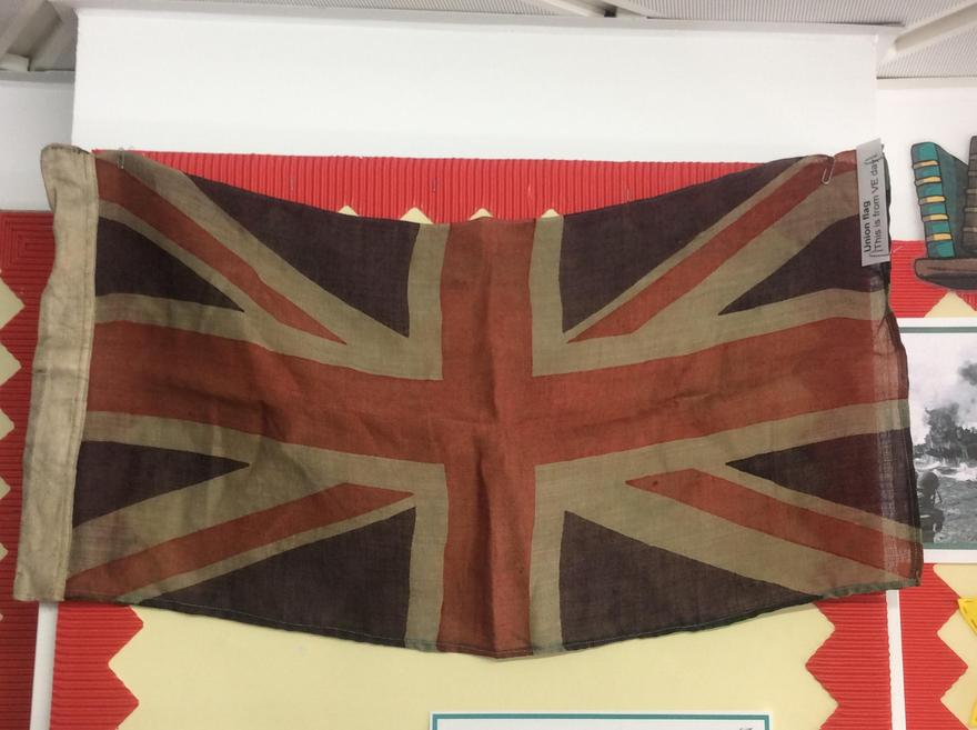 Genuine VE Day Union Jack, use to celebrate the end of the war