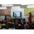 Reading a poem for the World Book Day assembly