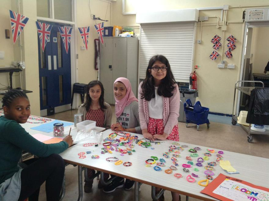 Pupils using their business and fundraising skills