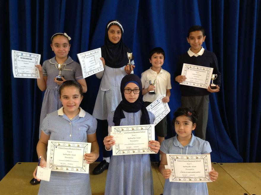 2015 Spelling Bee Competition Winners