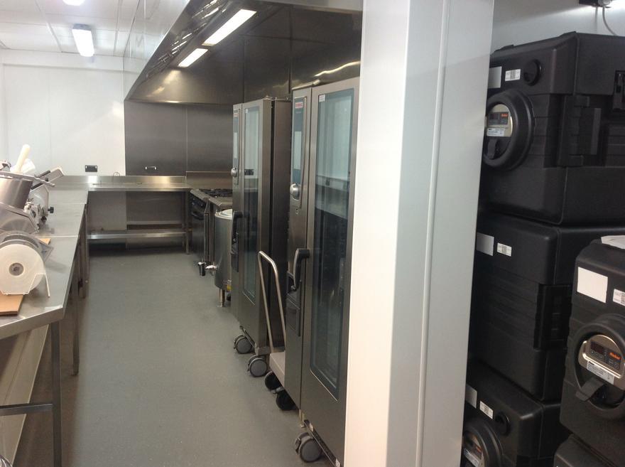 The new kitchen facilities are impressive.