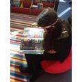 Enjoying reading in the new Reading Garden