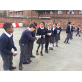 Pass the water challenge - teamwork