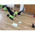 Practising Leg raises