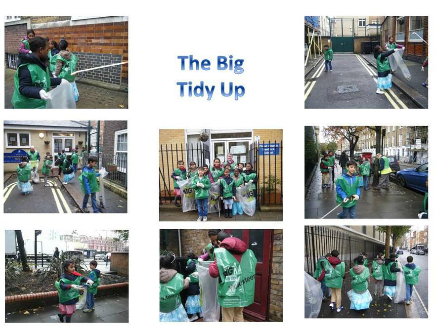 Removing litter from our local streets