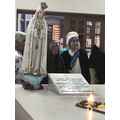 Visiting Mother Teresa's house