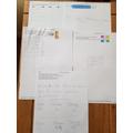 Lola challenging herself in her maths. Super!!!!!