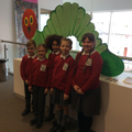 The Y4-6 team with the reading caterpillar.
