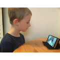 Declan streaming the Epiphany mass