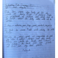 Aaliyah's beautifully presented Guided Reading!