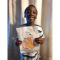 Xavier celebrating Winnie the Pooh Day