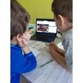 Leon learning about Sebastian Bach