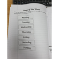 Beniah's ordering of the days of the week