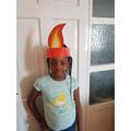 Zimi's fabulous Pentecost headband