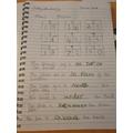 Declan's maths work