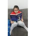 Roxanne enjoying a good book