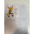 Hugo's nonfiction poster on tigers