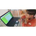 Kasimara accessing home learning
