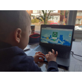 Leon playing on the computing acitivity