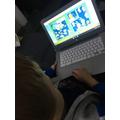 Filip reading on bug club