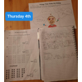 Declan's home learning from Thursday
