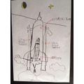 Tymek designed a rocket.