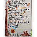 Jack's descriptive writing about Autumn
