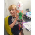 Jack made a rocket based on his RML book