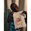 Jerome celebrating Winnie the Pooh Day