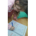 Alexa is reading and writing Year 1 words!