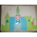 Anna created her own Paw Patrol Castle