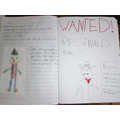 Anna's homework from the Scarecrow Wedding story