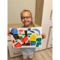 Amelia's magnificent Matisse inspired art-work!