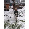 Kaya enjoying the snow on Monday.